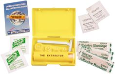 Sawyer Extractor/Bite & Sting Kit - Removes Poison From Snake Bites, Bee Stings