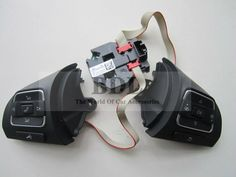 OEM VW Golf MK6 Tiguan Passat B7 CC Multifunction Steering Wheel Button/Switch+Module 5C0 959 538 B+5C0 959 537 A+5K0 959 542A