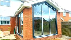 Large Aluminium Window installation for a home extension