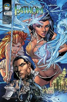 Aspen Comic - Fathom Vol.2 #11 - Signed by Michael Turner  Written by J.T. Krul, pencils by Koi Turnbull, inks by Sal Regla, colors by Paul Mounts.