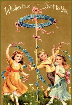 When I was a kid, in the 50's, we still danced around the Maypole as an activity at school. The flagpole was converted into this wonder fill...
