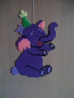 Winnie Heffalump birthday perler beads by Angelique WPerler® | Gallery