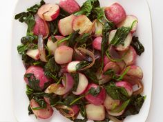 Get this all-star, easy-to-follow Sauteed Radishes with Spinach recipe from Food Network Kitchen