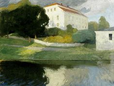 Helene Schjerfbeck (Finnish, 1862 - The Old Manor Siuntio (via Turku Art Museum) Landscape Paintings, Art Museum, Photo, Helene Schjerfbeck, Fine Art, Painter, Painting, Art, Seascape
