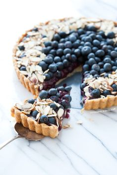 do-not-touch-my-food:  Blueberry Almond Tart
