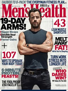 Justin Theroux By Patrik Giardino/Courtesy of Men's Health.