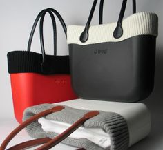 The Fullspot O bag - with Woollen trim accessory.  O bag handles are attached to bag bodies by a simple screw and cap mechanism. (I want them all...)