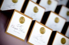 Brown, Gold, Placecards, Cards, Place, Escort, Escortcards