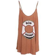 Wildfox Bon Voyage Slip Dress (295 BRL) ❤ liked on Polyvore featuring dresses, tops, shirts, tank tops, slip dress, wildfox dress, brown dress, wildfox and brown slip dress
