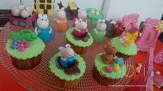 mini cupcakes decorados - tema peppa
