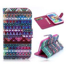Kleurrijk aztec booktype hoesje voor Samsung Galaxy S5