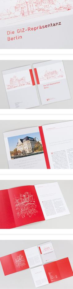 Imagebroschüre der GIZ-Repräsentanz Berlin #broschüre #imagebroschüre