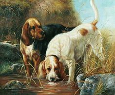"Hand Painted Oil Painting Reproductions Animal Pet Portrait Dog, Size: 36"" x 24"", $128. Url: http://www.oilpaintingshops.com/hand-painted-oil-painting-reproductions-animal-pet-portrait-dog-2890.html"