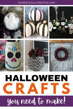 Check out all of these awesome DIY Halloween decorations! You need to make some of these Halloween crafts asap! Diy Halloween Food, Halloween Party Themes, First Halloween, Diy Halloween Decorations, Christmas Diy, Christmas Bulbs, Holiday, World Crafts, Mason Jar Crafts