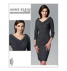 Vogue Pattern V1254 - Dress, Anne Klein New York American Designer