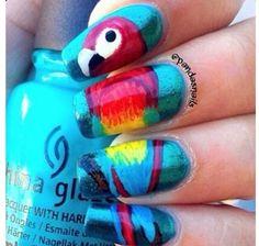 Parrot nails!!!  | See more nail designs at http://www.nailsss.com/nail-styles-2014/2/