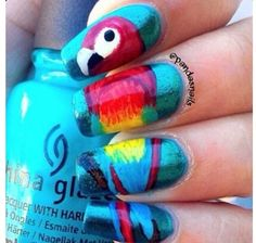 Parrot nails!!!  | See more nail designs at http://www.nailsss.com/nail-styles-2014/2/