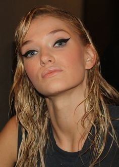 Backstage beauty - the final look for Elle Fashion Next