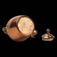 Copper Kettle made from pence piece. Dolls' Houses and Miniatures: Great Dolls' Houses of the World Number One: Queen Mary's Dolls' House.