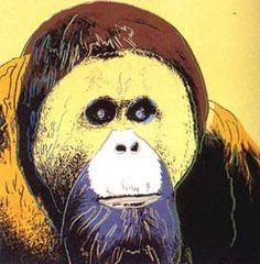 Andy Warhol  Endangered Species: Orangutan