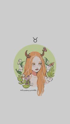 Taurus Taurus Art, Zodiac Signs Astrology, Zodiac Capricorn, Anime Zodiac, Zodiac Art, Taurus Wallpaper, Art Zodiaque, Character Art, Character Design