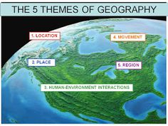 GMS Grade Social Studies: 5 Themes of Geography 6th Grade Activities, 6th Grade Science, Social Studies Activities, Middle School Science, 7th Grade Social Studies, Social Studies Classroom, Teaching Social Studies, Student Teaching, Teaching Ideas