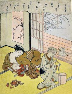 三十六歌仙 平兼盛 Taira no Kanemori, from the series Thirty-Six Immortal Poets Suzuki Harunobu
