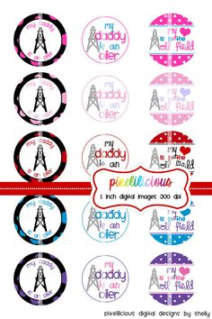 Bottle Cap Image Sheet  Instant Download  My by pixelilicious