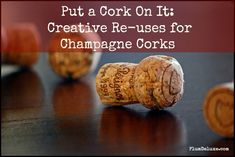 Put a Cork On It: Creative Re-uses for Champagne Corks << love the place settings idea! SO cute.