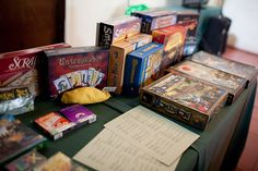 board games for the reception?---love it!