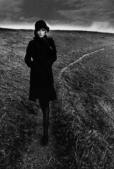 Lady in Black by Jeanloup Sieff, England, 1964