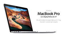 Il nuovo MacBook Pro con display Retina da 13 pollici. Più di 4 milioni di pixel. Meno di 1,7 kg. Ha tutti i numeri per stupire. 2012