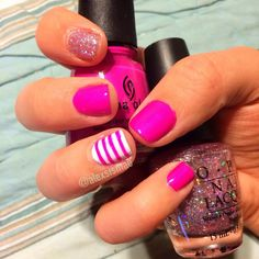 Pink Spring Nail Art - pictures, photos, images