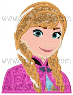 Cold Princess Bust 2 Applique Machine Embroidery by CuteByKira, $5.00