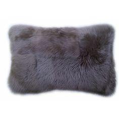 Discover the Pure Lana Sheep Fur Cushion - Silver Grey at Amara