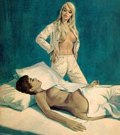 pulp cover art by Paul Rader