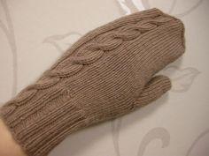 Knitted mittens Hennin, Knit Mittens