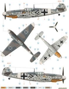 Bf 109G-2/Trop JG 77 Heinz Bär Color Profile and Paint Guide Added