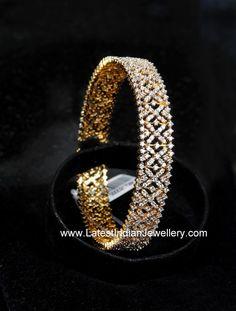 Fabulous Diamond Bangle Design | Latest Indian Jewellery Designs