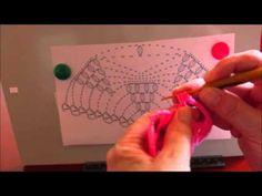 Вяжем по схеме шаль Виноград (knit shawl scheme grapes)