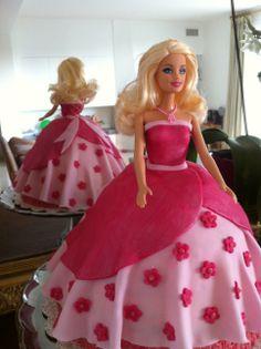 Pink Barbie Cake Pink Barbie, Barbie Cake, Flower Shape, Beautiful Moments, Beautiful Cakes, Aurora Sleeping Beauty, Doll, Shapes, Disney Princess