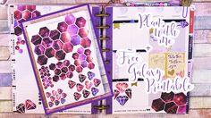 Plan with me Week 11 - Galaxy Style + Free Printable
