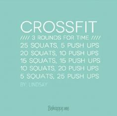 Crossfit workout ~ 3 rounds for time Wods Crossfit, Crossfit At Home, Beginner Crossfit Workouts, Fitness Tips, Health Fitness, The Bikini, I Work Out, Get In Shape, Excercise