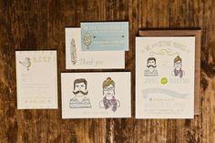 bohemian wedding invitation by wide eyes design #handmade #wedding #invitations