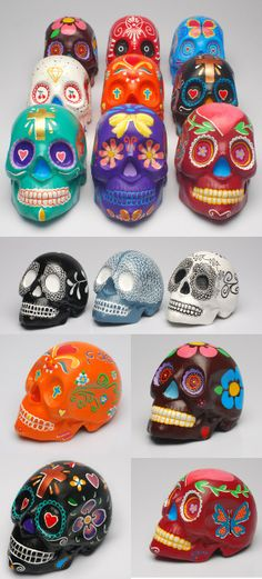 little skulls -huichol art