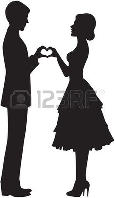 Illustration of silhouette of the bride and groom holding hands vector art, clipart and stock vectors. Bride Silhouette, Couple Silhouette, Silhouette Images, Silhouette Projects, Man And Woman Silhouette, Dress Silhouette, Crayon Art, Pencil Art Drawings, Paper Cutting