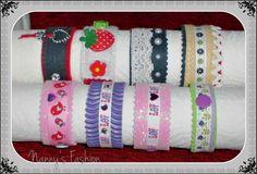 Armbänder für Kids...telweise aus Moosgummi und Filz