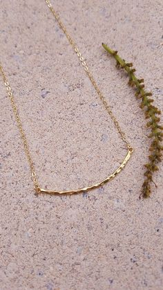 La Flaca. Gold Curved Skinny Bar Necklace. Petite Hammered Curved Bar Necklace. Gold Curved Skinny Bar Necklace. Gold Layering Necklace. by EveilleJewelry on Etsy