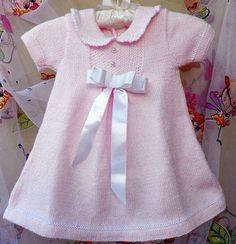 pembe bebe yakalı bebek elbisesi