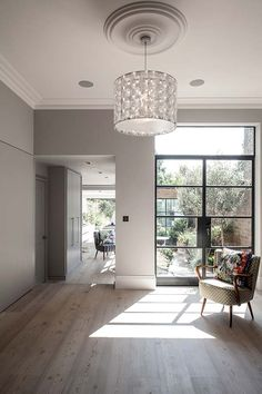 Love the door but I think this style may be too much in our space Open Plan Kitchen Living Room, Open Plan Living, Space Kitchen, Victorian Living Room, Victorian Homes, Victorian Decor, Style At Home, House Extension Design, House Design
